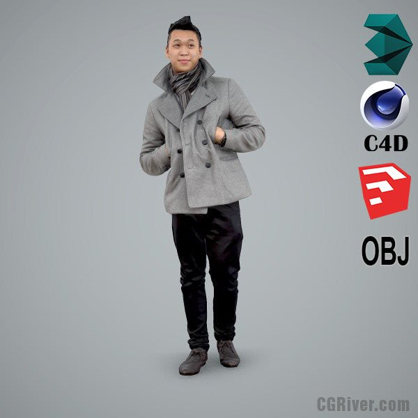 Asian Man / Casual - CMan0100-HD2-O02P01-S - Ready-Posed 3D Human Model / Male Character (Still)