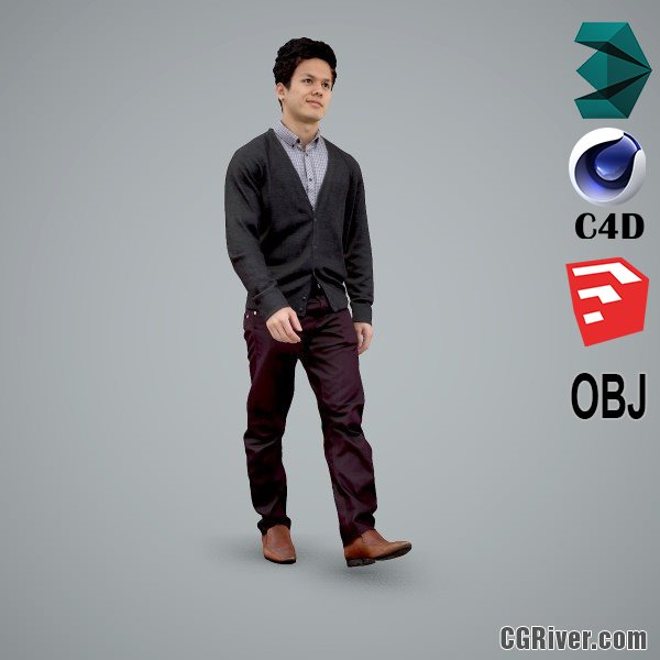 Asian Man / Business - BMan0103-HD2-O03P01-S - Ready-Posed 3D Human Model / Male Character (Still)