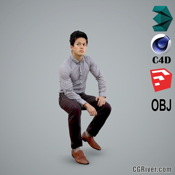 Asian Man / Business - BMan0103-HD2-O02P01-S - Ready-Posed 3D Human Model / Male Character (Still)