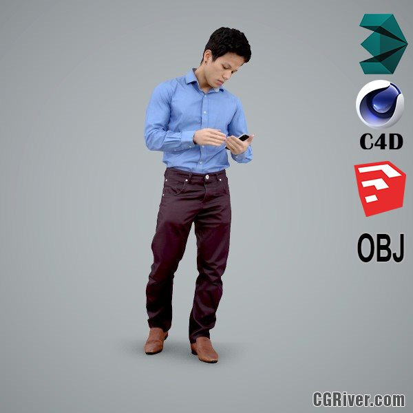 Asian Man / Business - BMan0103-HD2-O01P01-S - Ready-Posed 3D Human Model / Male Character (Still)