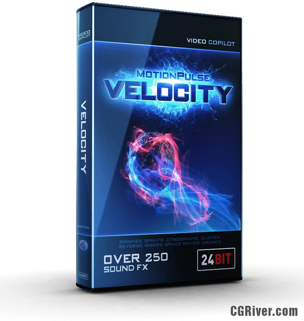 MotionPulse VELOCITY by Video Copilot - Sound Design Tools for Motion Graphics (Over 250 Sound FX)