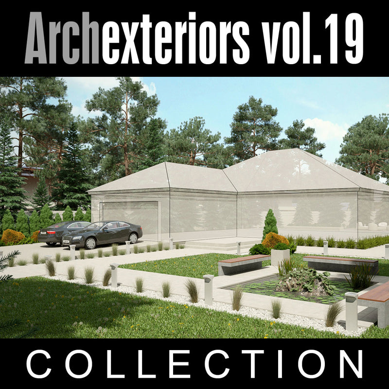 Archexteriors vol. 19 (Evermotion 3D Model Scene Set) - Architectural Site Templates