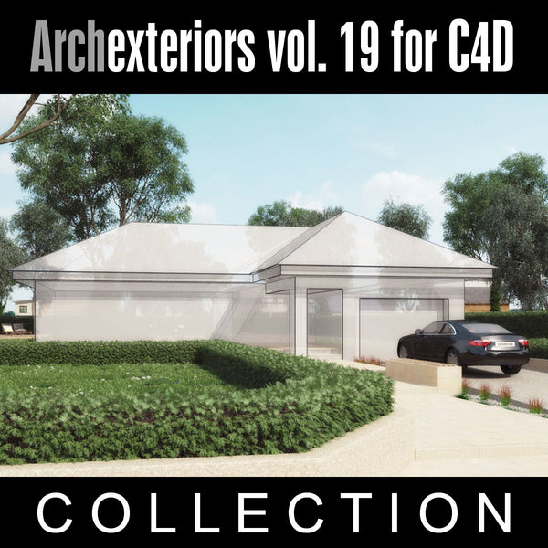 Archexteriors for C4D vol. 19 (Evermotion 3D Model Scene Sets) - Architectural Site Templates