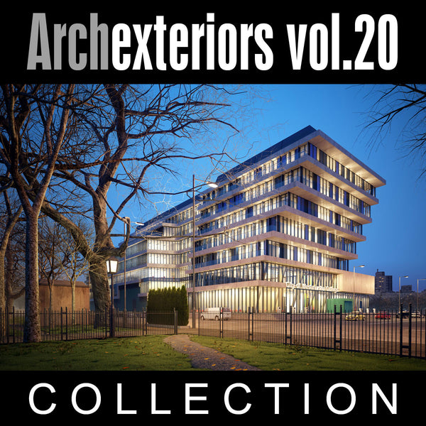 Archexteriors vol. 20 (Evermotion 3D Model Scene Set) - 10 Photorealistic Architectural Scenes