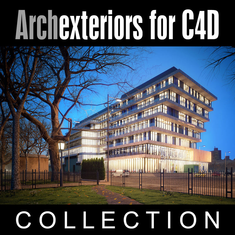 Archexteriors for C4D vol. 20 (Evermotion 3D Model Scene Set) - 10 Photorealistic Architectural Scenes