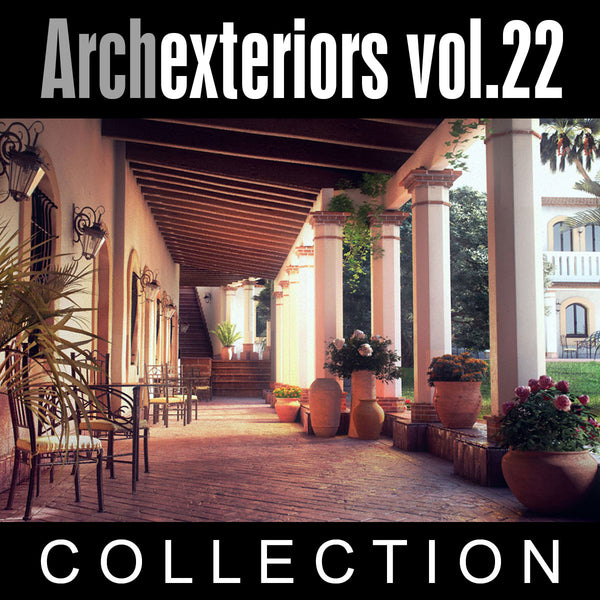 Archexteriors vol. 22 (Evermotion 3D Model Scene Set) - 10 Photorealistic Architectural Scenes