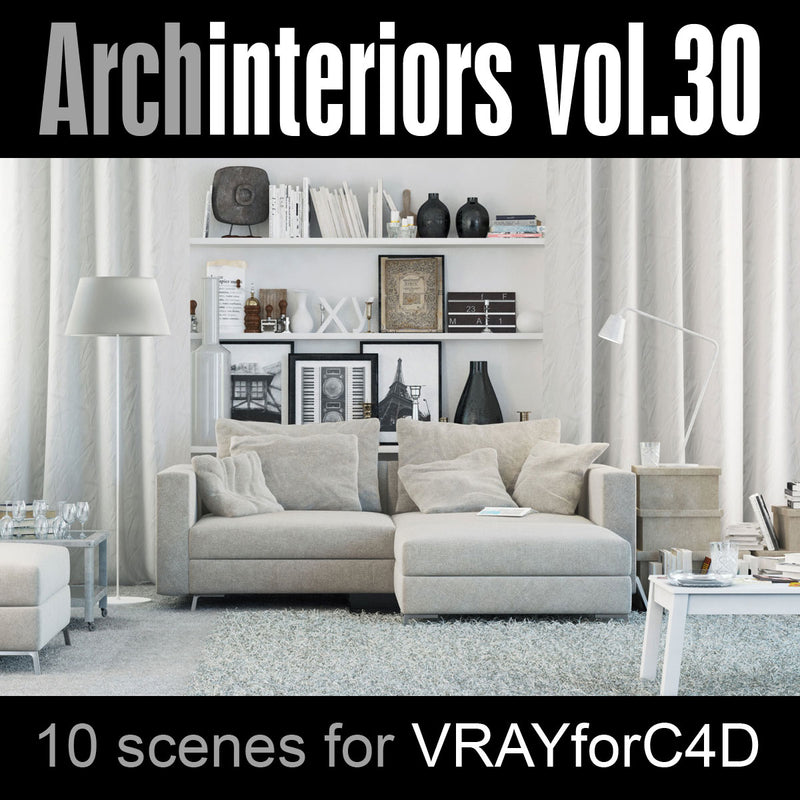 Archinteriors for C4D vol. 30 (Evermotion 3D Model Scene Set) - 10 Photoreal 3D Interior Scenes for C4D