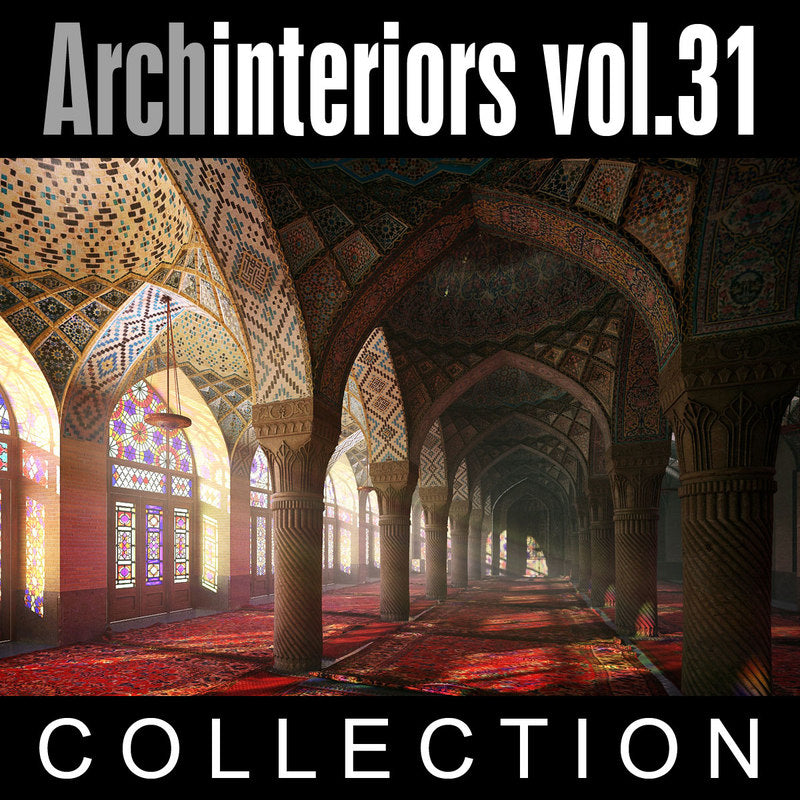 Archinteriors vol. 31 (Evermotion 3D Model Scene Set) - 10 3D Oriental Interior Scenes for 3ds Max with V-Ray