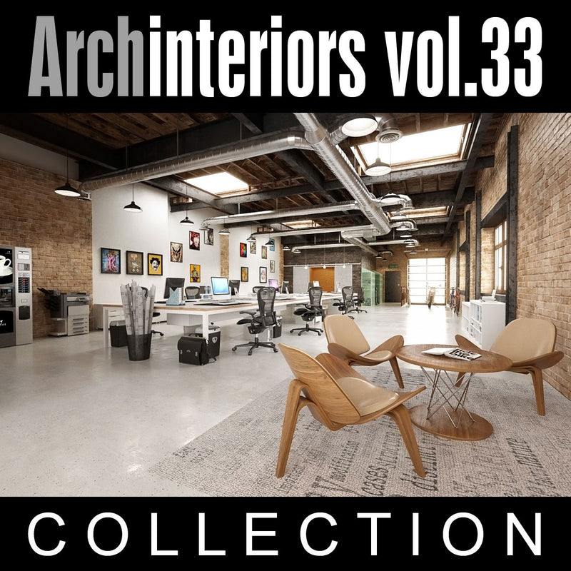 Archinteriors vol. 33  (Evermotion 3D Model Scene Set) - 10 x 3D Interior Scenes for 3ds Max with V-Ray