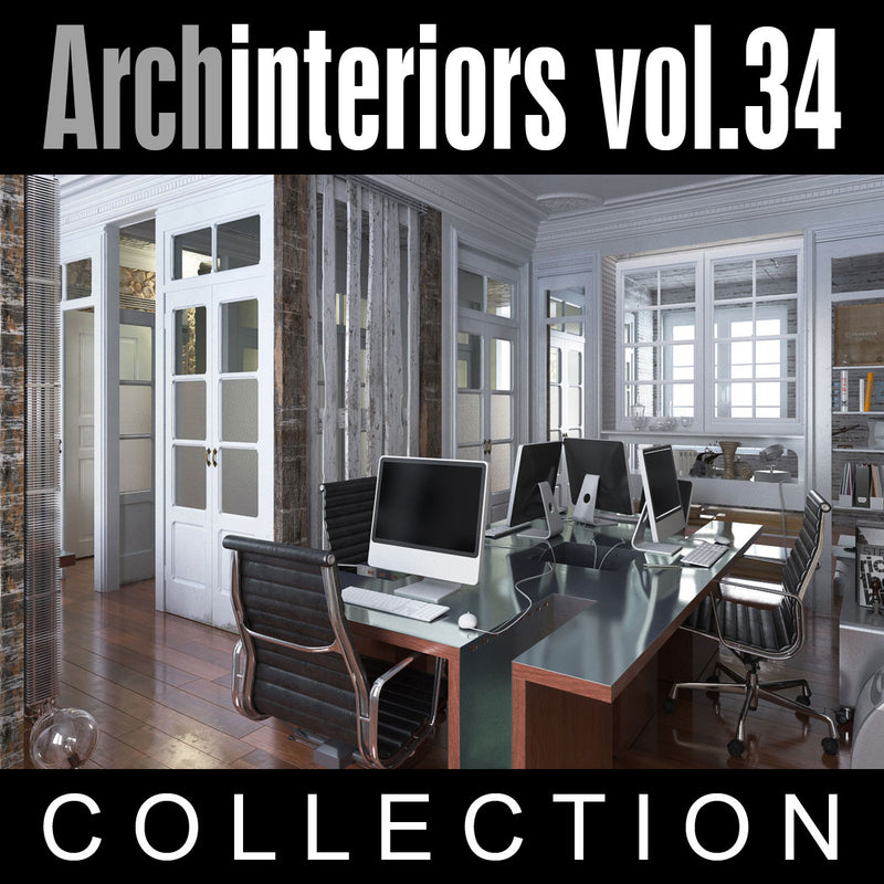 Archinteriors vol. 34 (Evermotion 3D Model Scene Set)