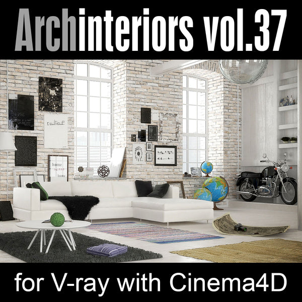 Archinteriors for C4D vol. 37 (Evermotion 3D Model Scene Set)