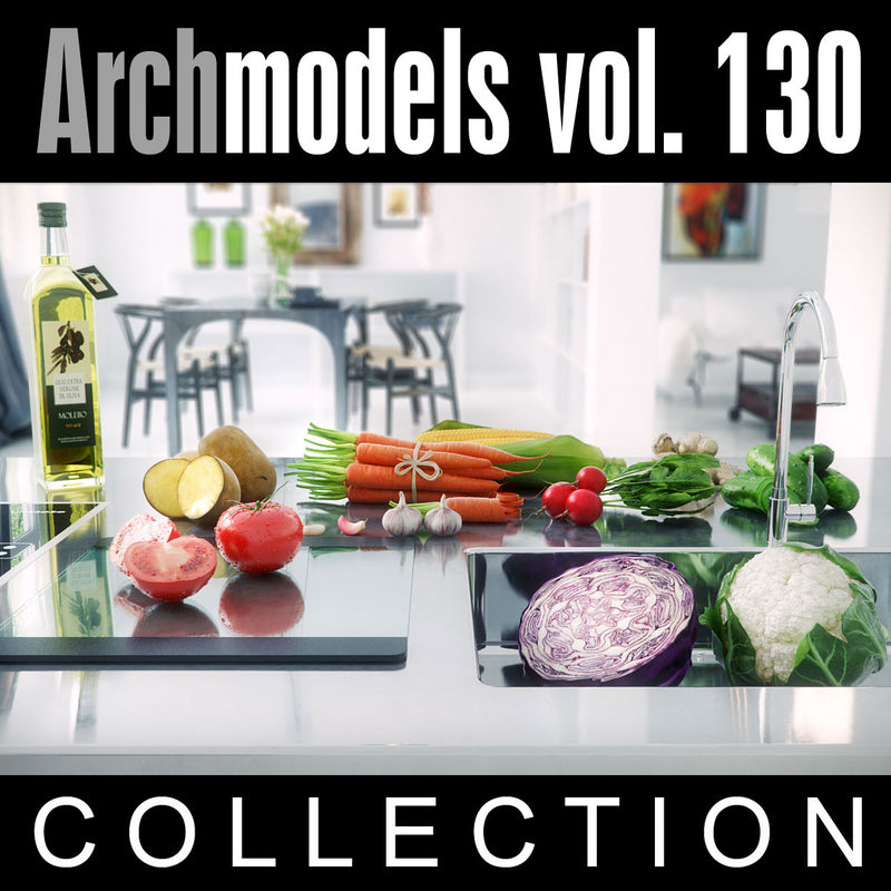 Archmodels vol. 130 (Evermotion 3D Models) - Fruits and Vegetables