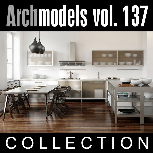 Archmodels vol. 137 (Evermotion 3D Models) - Kitchen Design Sets