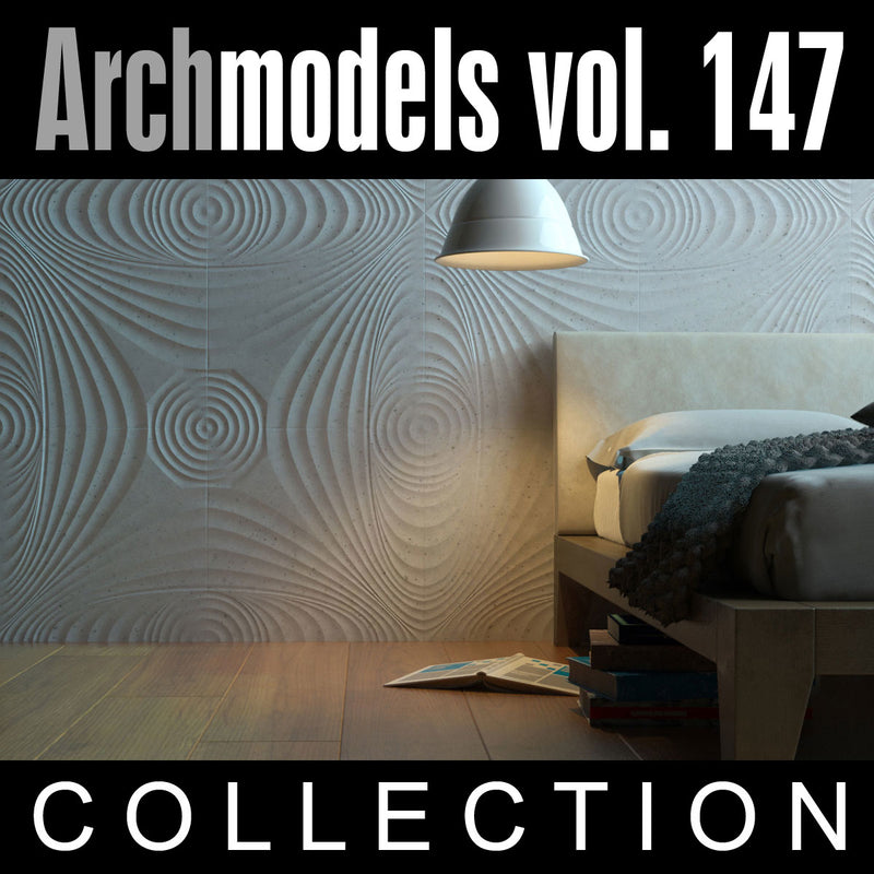 Archmodels vol. 147 (Evermotion 3D Models) - Decorative Walls and Furniture