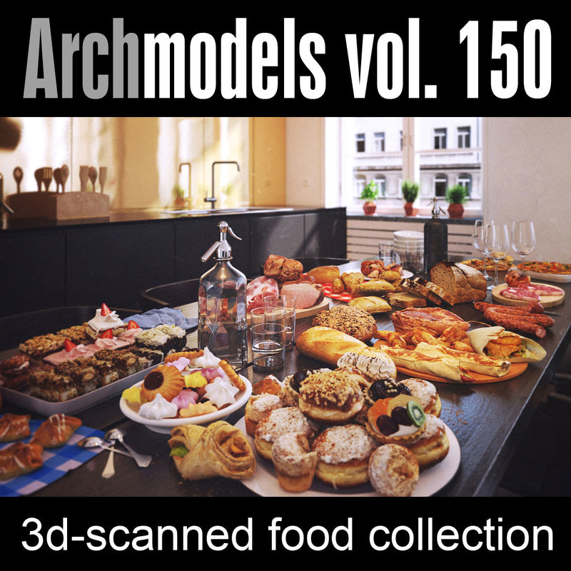 Archmodels vol. 150 (Evermotion 3D Models) - Food & Bakery