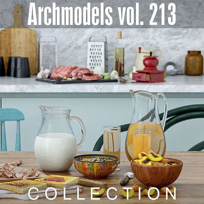 Archmodels vol. 213 (Evermotion 3D Models) - Architectural Visualizations (Scanned Food Sets)