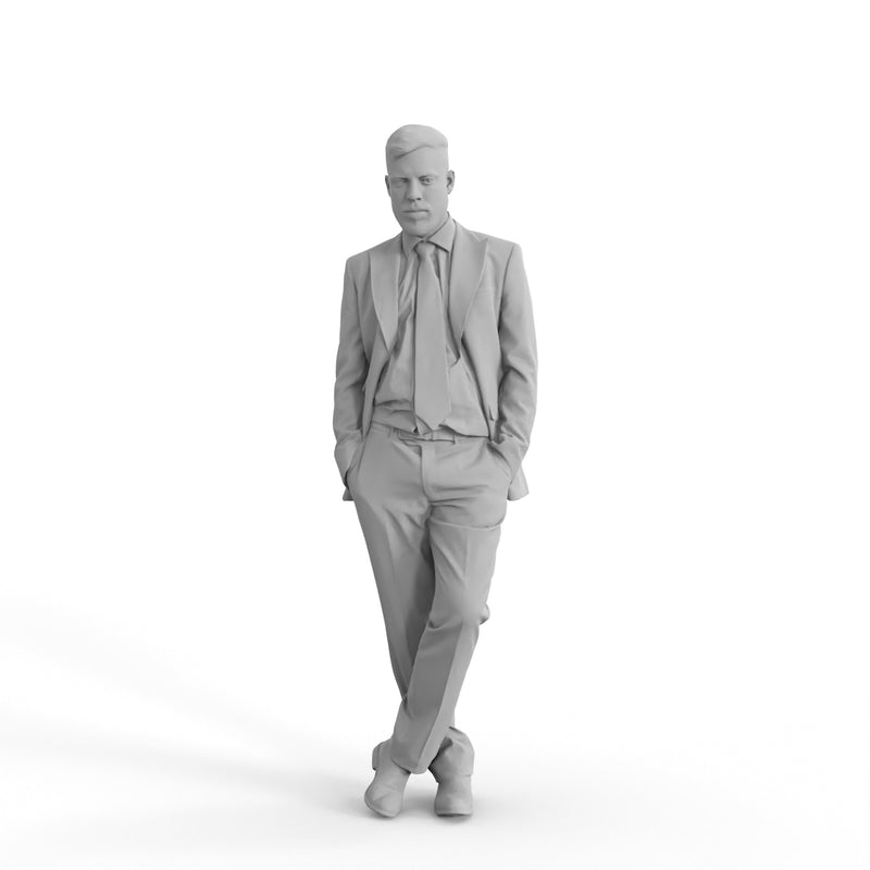 Business Man | bman0306hd2o01p02s | Ready-Posed 3D Human Model (Man / Still)