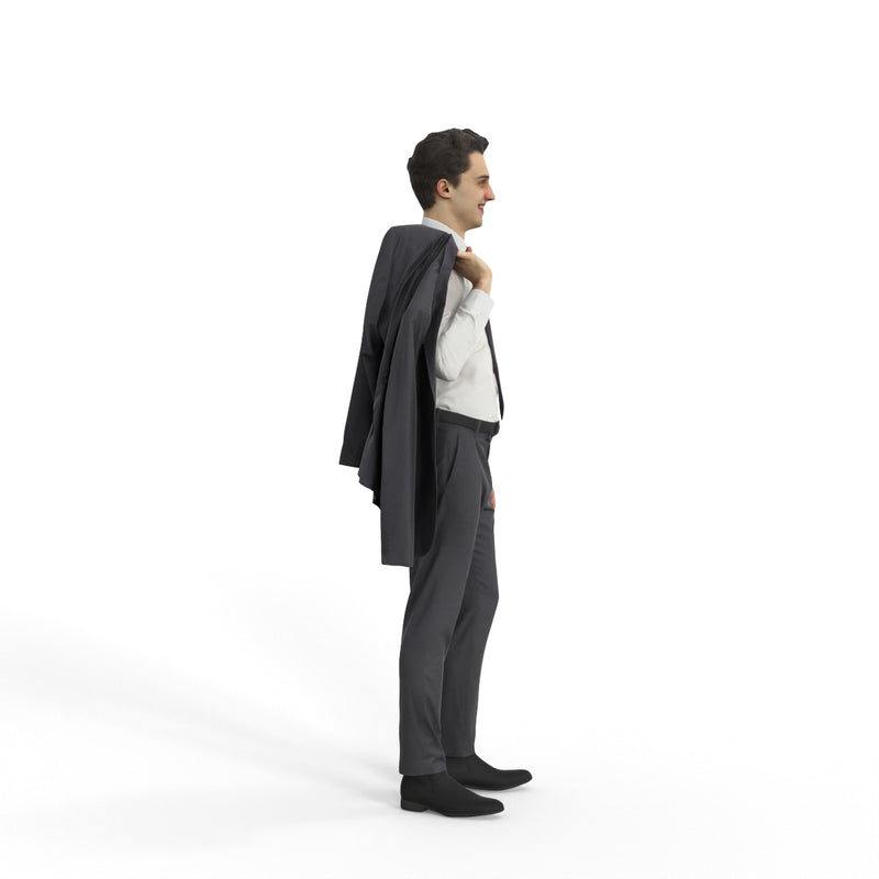 Business Man | grp0002hd2o01p01s | Ready-Posed 3D Human Model (Man / Still)