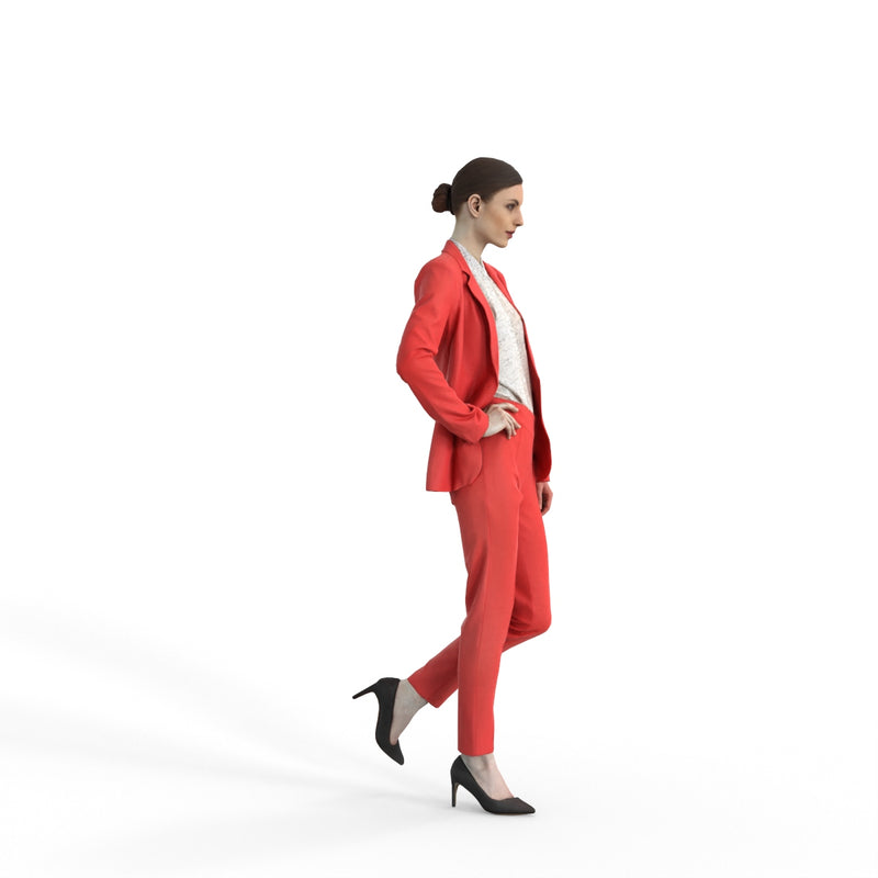 Business Woman | bwom0312hd2o01p01s | Ready-Posed 3D Human Model (Woman / Still)