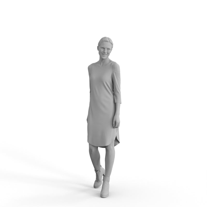 Casual Woman | cwom0328hd2o07p01s | Ready-Posed 3D Human Model (Woman / Still)