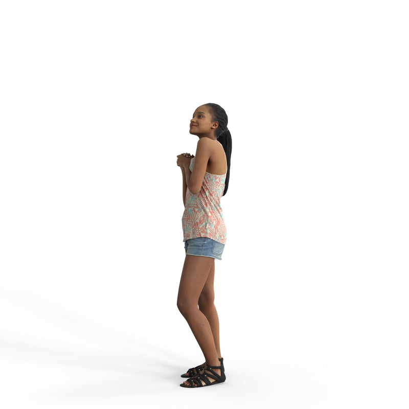Casual Woman | cwom0339hd2o04p01s | Ready-Posed 3D Human Model (Woman / Still)