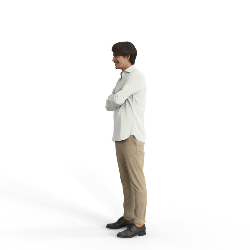 Casual Man | grp0004hd2o01p01s| Ready-Posed 3D Human Model (Man / Still)