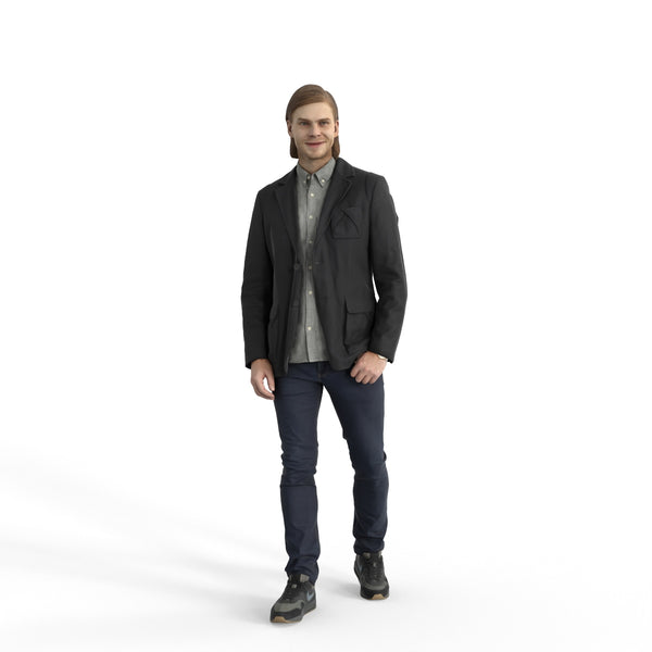 Casual Man | cman0330hd2o05p01s | Ready-Posed 3D Human Model (Man / Still)