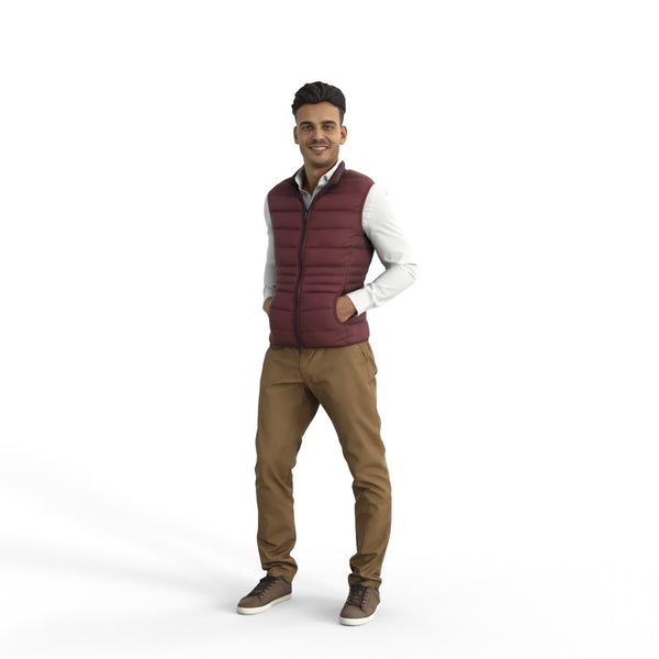 Casual Man | cman0331hd2o04p01s | Ready-Posed 3D Human Model (Man / Still)