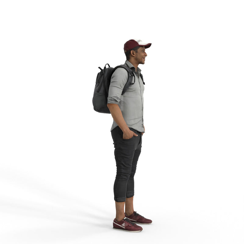 Casual Man | cman0339hd2o04p01s| Ready-Posed 3D Human Model (Man / Still)
