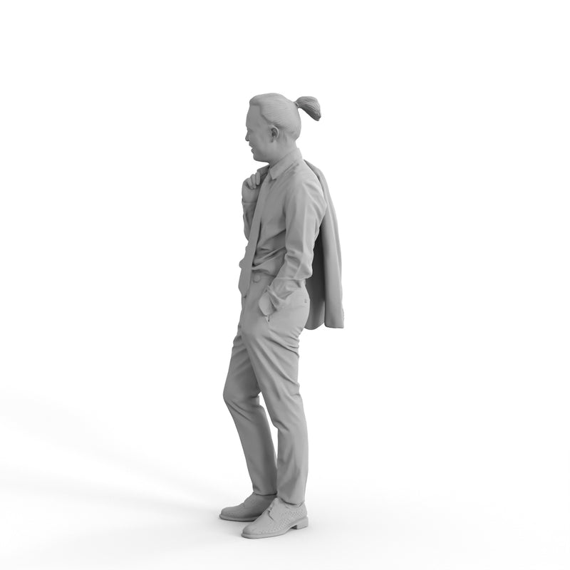 Elegant Man | eman0319hd2o02p02s | Ready-Posed 3D Human Model (Man / Still)