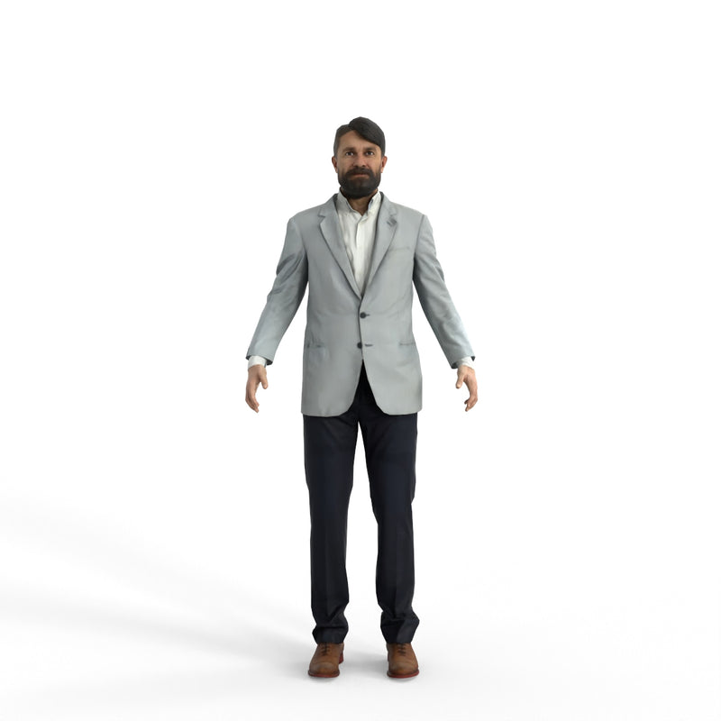 High Quality Rigged 3D Business Casual Man | cman0343m4 |3DS MAX Human