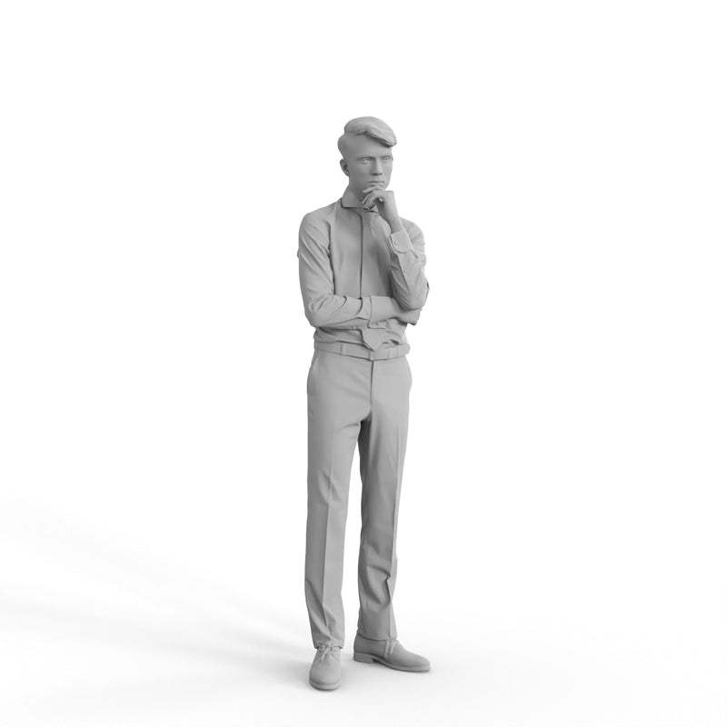 Business Man | eman0312hd2o04p01s | Ready-Posed 3D Human Model (Man / Still)