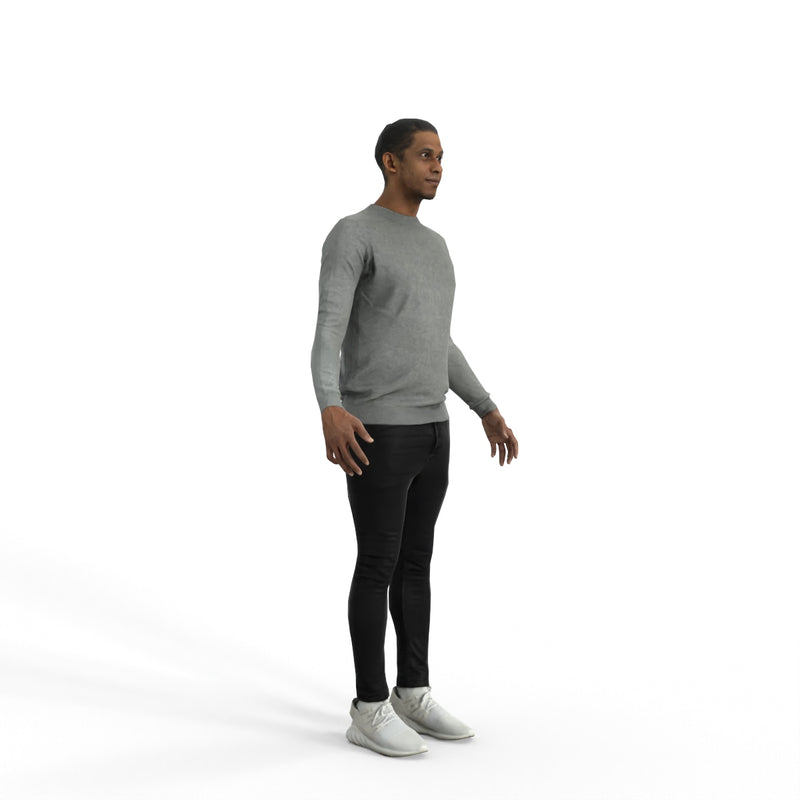 High Quality Rigged 3D Casual Man | cman0334m4 | MAX Human