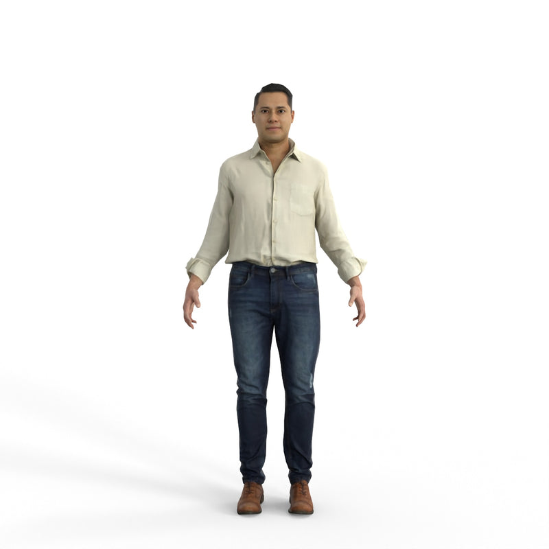 High Quality Rigged 3D Casual Man | cman0341m4 | MAX Human