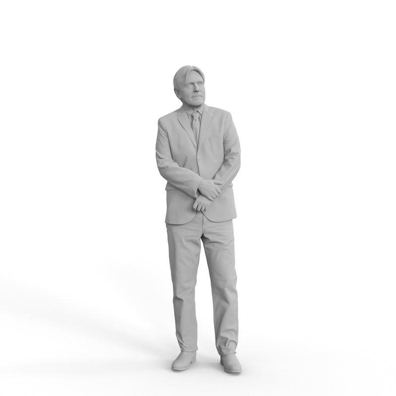 Business Man | grp0009hd2o01p01s | Ready-Posed 3D Human Model (Man / Still)