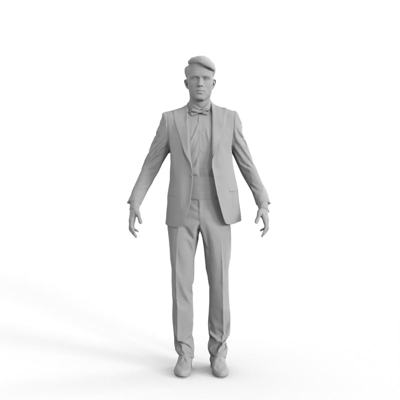 High Quality Rigged 3D Formal Man| eman0312m4 | 3DS MAX Human
