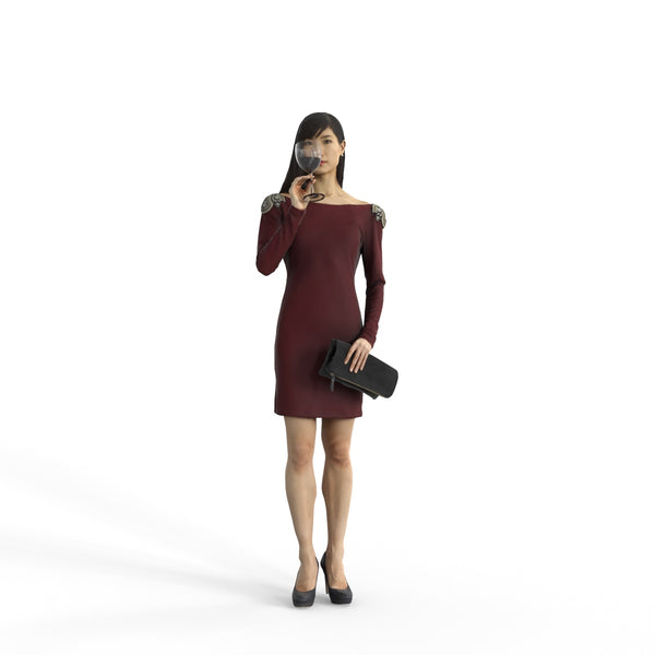Elegant Woman | ewom0322hd2o02p02s | Ready-Posed 3D Human Model (Woman / Still)