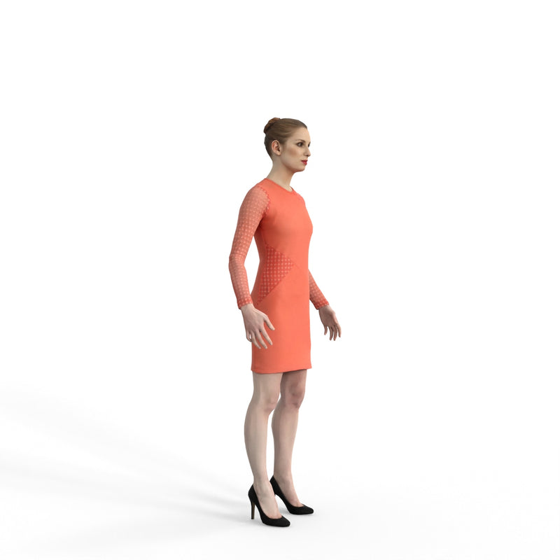 High Quality Rigged 3D Business Woman | ewom0316m4 | 3DS MAX Human