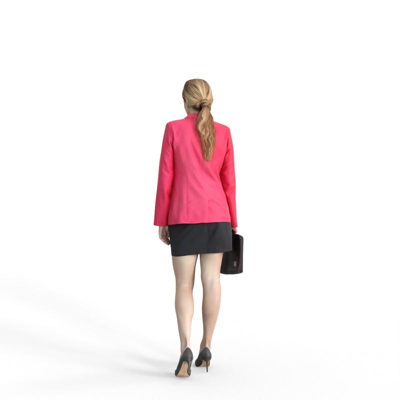 Business Woman | bwom0313hd2o01p01s | Ready-Posed 3D Human Model (Woman / Still)