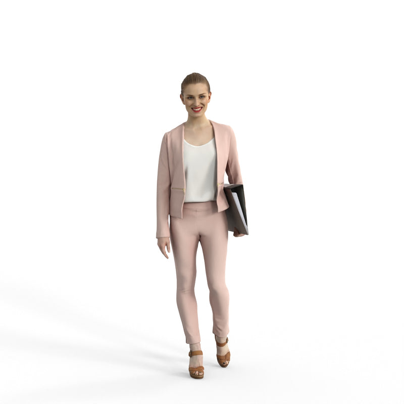 Business Woman | bwom0316hd2o02p01s | Ready-Posed 3D Human Model (Woman / Still)