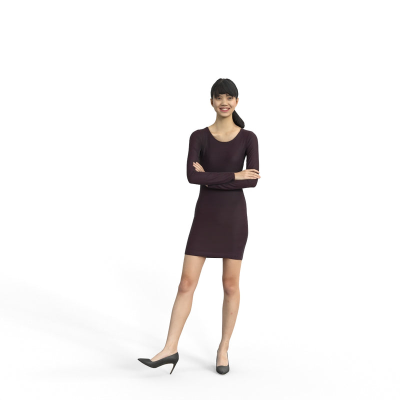 Business Woman | grp0006hd2o01p01s | Ready-Posed 3D Human Model (Woman / Still)
