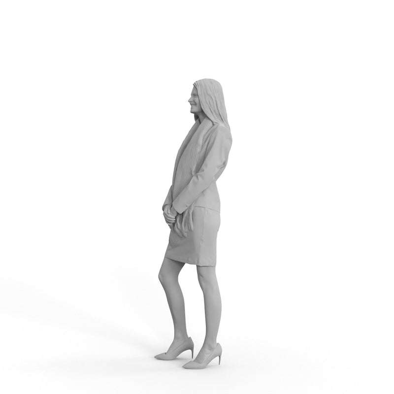 Business Woman | grp0007hd2o01p01s | Ready-Posed 3D Human Model (Woman / Still)