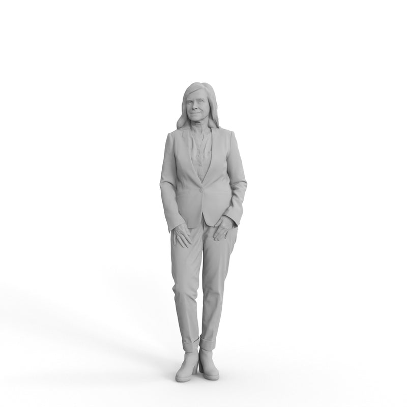 Business Woman | grp0008hd2o01p01s | Ready-Posed 3D Human Model (Woman / Still)