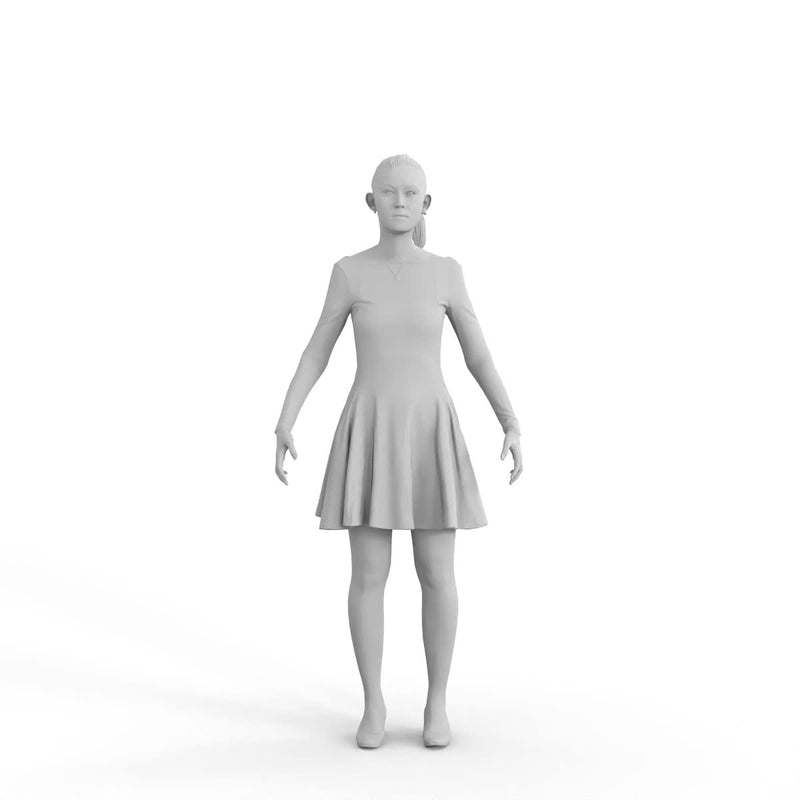 High Quality Rigged 3D Business Woman | bwom0331m4 | 3DS MAX Human