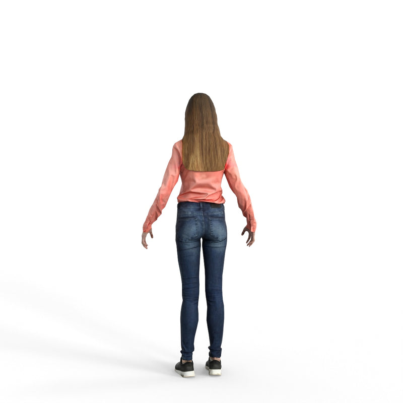 High Quality Rigged 3D Casual Woman | cwom0336m4 | 3DS MAX Human