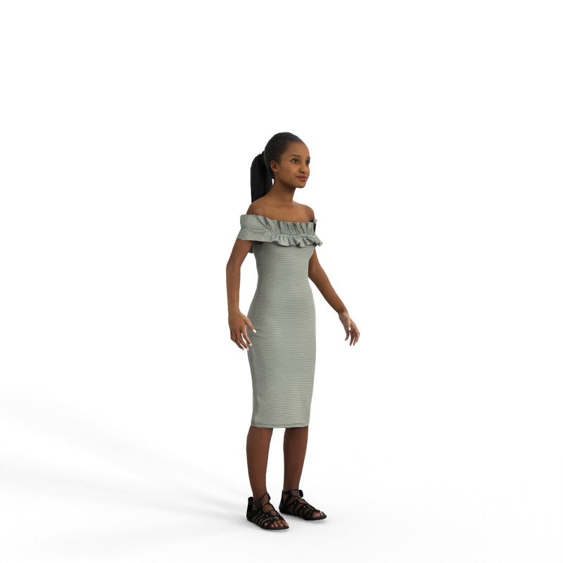 High Quality Rigged 3D Casual Woman | cwom0339m4 | 3DS MAX Human
