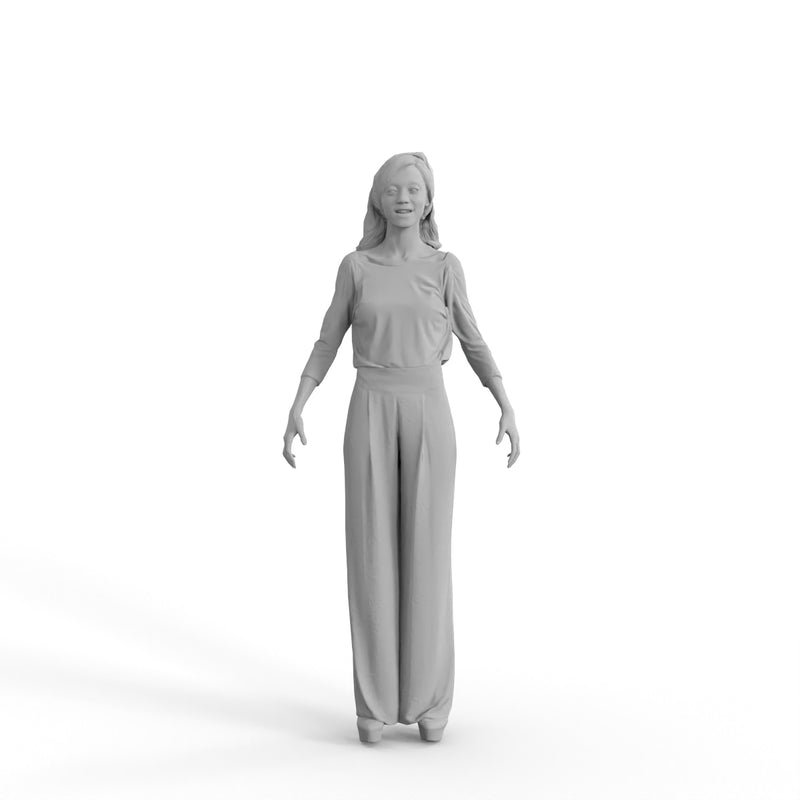 High Quality Rigged 3D Casual Woman | cwom0344m4 | 3DS MAX Human