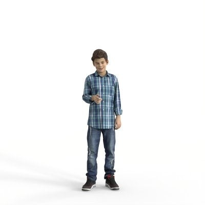 Ready-Posed 3D Humans | MeMsS050-HD2 | Family