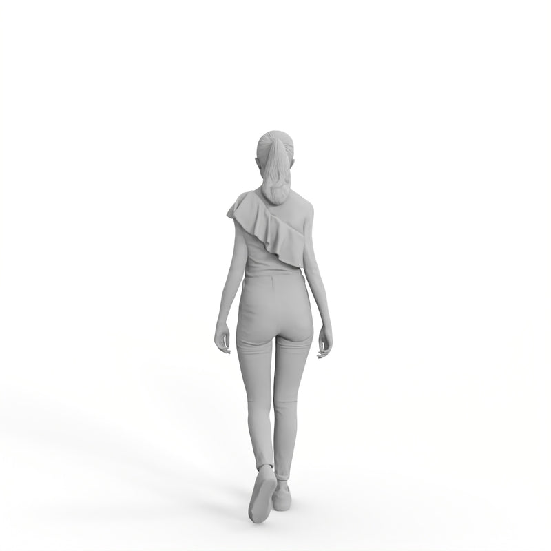High Quality Rigged 3D Casual Woman | grwom0001m4 | Rigged 3D Human