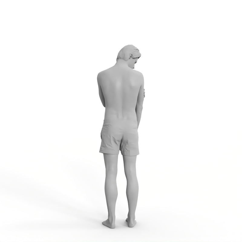 Swim Man| bch0010hd2o01p01s | Ready-Posed 3D Human Model (Man / Still)